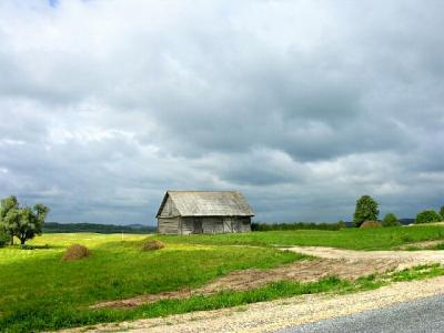 The clouds thrown up by the Baltic Ocean provide dramatic backgrounds for quiet rural scenes.  The rural areas of Lithuania provide many opportunities to stop and imagine what it was like for your ancestors to live in this country many decades ago.